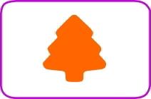Fustella albero cm. 3,8 cod. XM17 FUSTELLE 3,8
