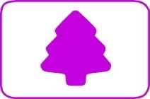 Fustella albero cm. 5,00 cod. L29 FUSTELLE 5,00