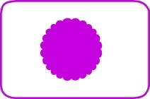 Fustella cerchio scallop cm. 5,00 cod. L33 FUSTELLE 5,00
