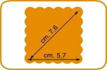 Fustella quadrato scallop cm 7,5 cod. XL06 FUSTELLE 7,5