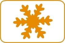 Fustella fiocco di neve cm 7,5 FUSTELLE 7,5