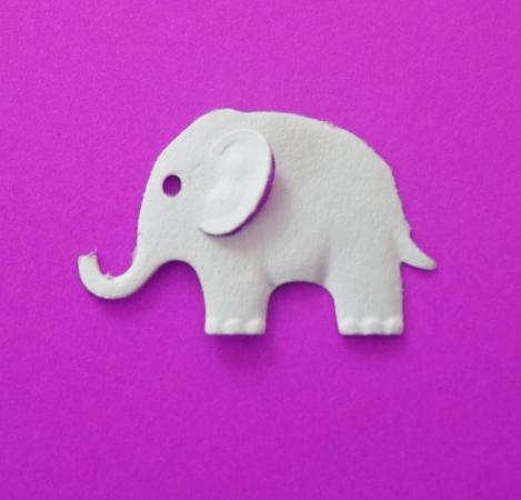 Fustella effetto rilievo Elefante FUSTELLE RILIEVO