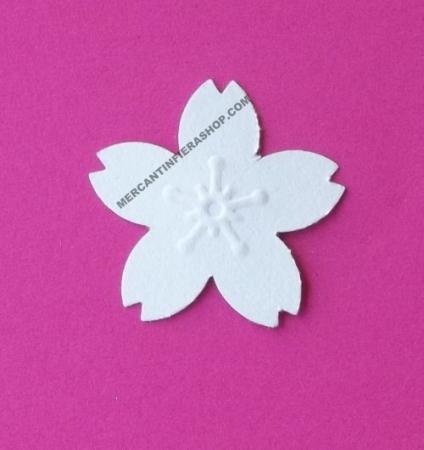 Perforatore effetto rilievo Fiore Sakura FUSTELLE RILIEVO