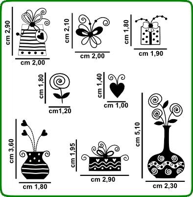 Timbri serie fiori cod. TT32 TIMBRI TRASPARENTI