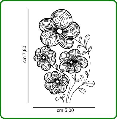 Timbri serie fiori cod. TT34 TIMBRI TRASPARENTI