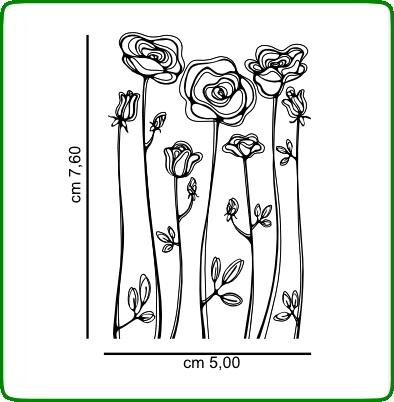 Timbri serie fiori cod. TT35 TIMBRI TRASPARENTI