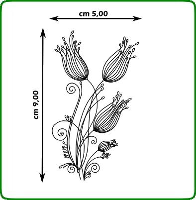 Timbri serie fiori cod. TT64 TIMBRI TRASPARENTI