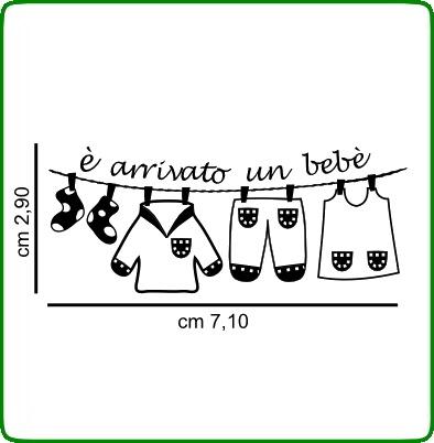 Timbri serie baby cod. TT22 TIMBRI TRASPARENTI