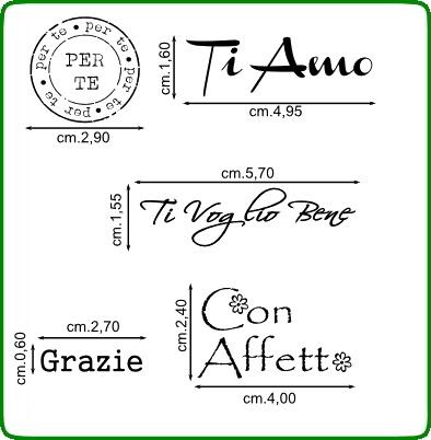 Timbri serie alfabeti cod. TT66 TIMBRI TRASPARENTI