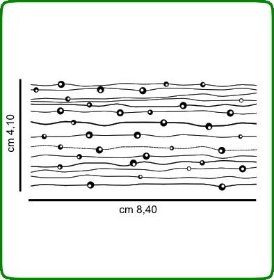 Timbri serie decori cod. TT25 TIMBRI TRASPARENTI