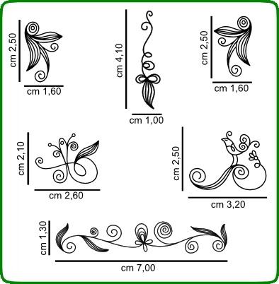 Timbri serie decori cod. TT17 TIMBRI TRASPARENTI