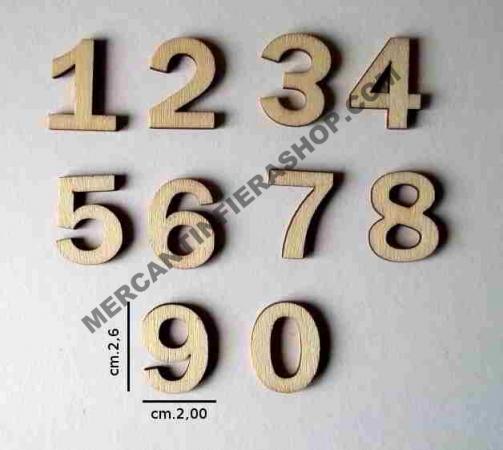 Numeri legno cod. ACL30 ACCESSORI