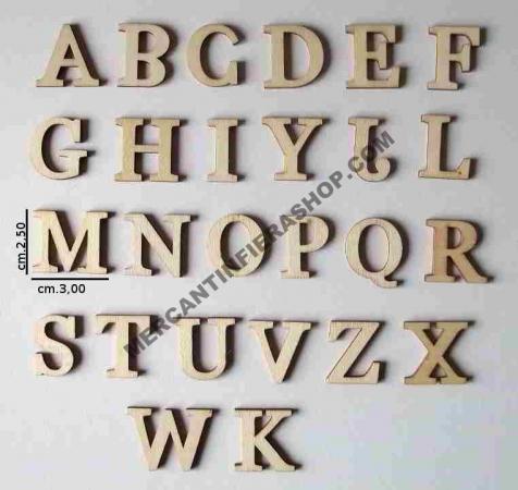 Alfabeto legno cod. ACL29 ACCESSORI