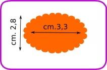 Fustella ovale scallop cm. 3,3 cod. XM24 FUSTELLE 3,8