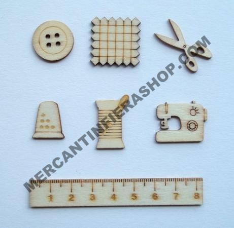 Deco legno cucito cod. ACL36 ACCESSORI