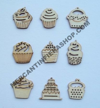 Deco legno cupcake cod. ACL38 ACCESSORI