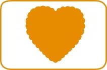 Fustella cuore scallop cm 7,5 cod. XL18 FUSTELLE 7,5