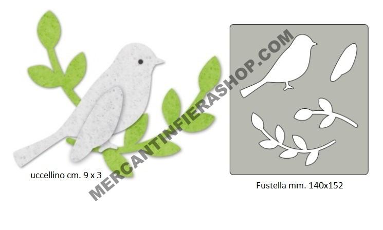 Fustella per Feltro Uccellino ALTE