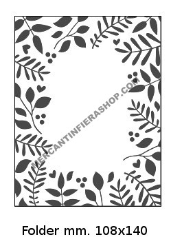 Embossing Folder Cornice Foglie EMBOSSING