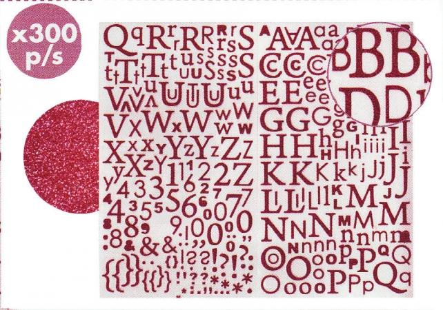 Stickers adesivi lettere/numeri cod. ACS20R ACCESSORI