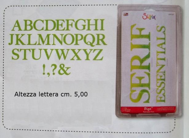 Fustelle Sizzix Bigz Alfabeto Serif ALTE