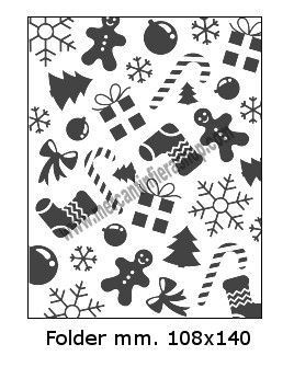 Embossing Folder Natale per Big Shot EMBOSSING