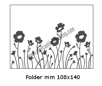 Embossing Folder Fiori per Big Shot EMBOSSING