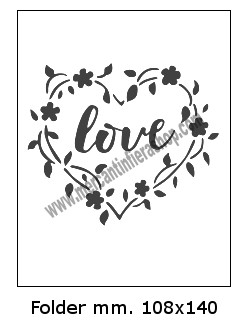 Embossing Folder Love per Big Shot EMBOSSING