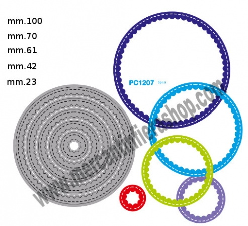 Fustella sottile cod. PC1207 SOTTILI