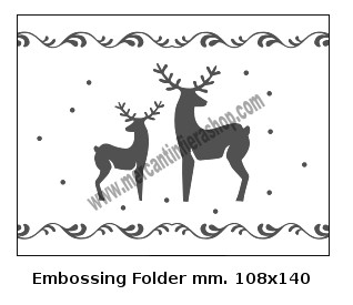 Embossing Folder Renne per Big Shot EMBOSSING