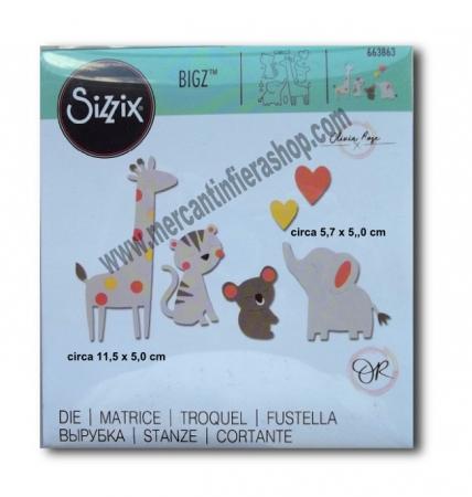 Fustella Sizzix Bigz zoo friends ALTE