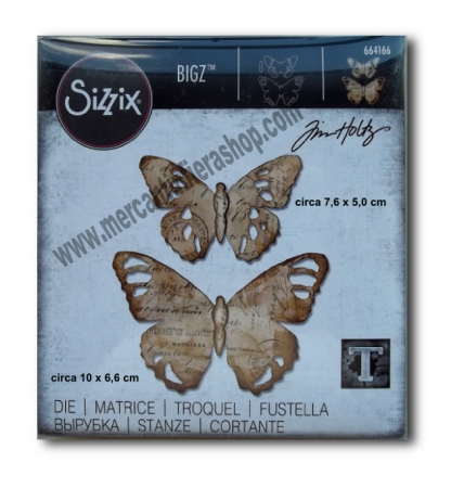 Fustella Sizzix Bigz Tattered Butterfly ALTE