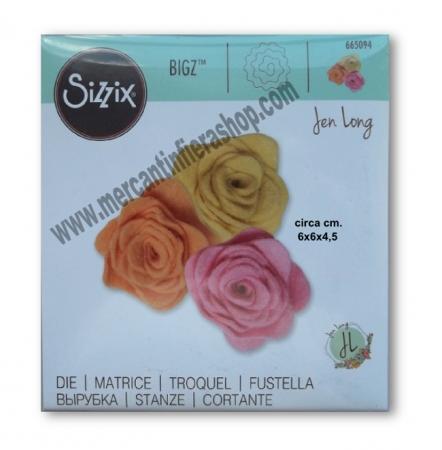 Sizzix Bigz 3D Rose By Jen Long ALTE
