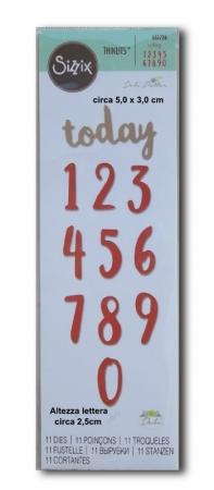 Sizzix Thinlits Brush Numbers SOTTILI